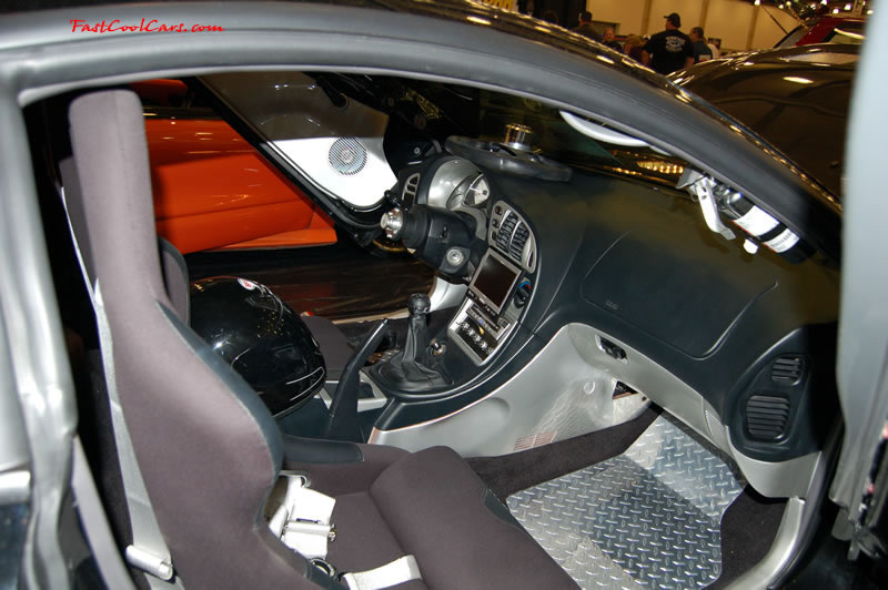 The 2009 World of Wheels Show in Chattanooga, Tennessee. On Jan. 9th,10, & 11th, Pictures by Ron Landry. Removable steering wheel, and interior mounted fire extingisher. Custom race seats.