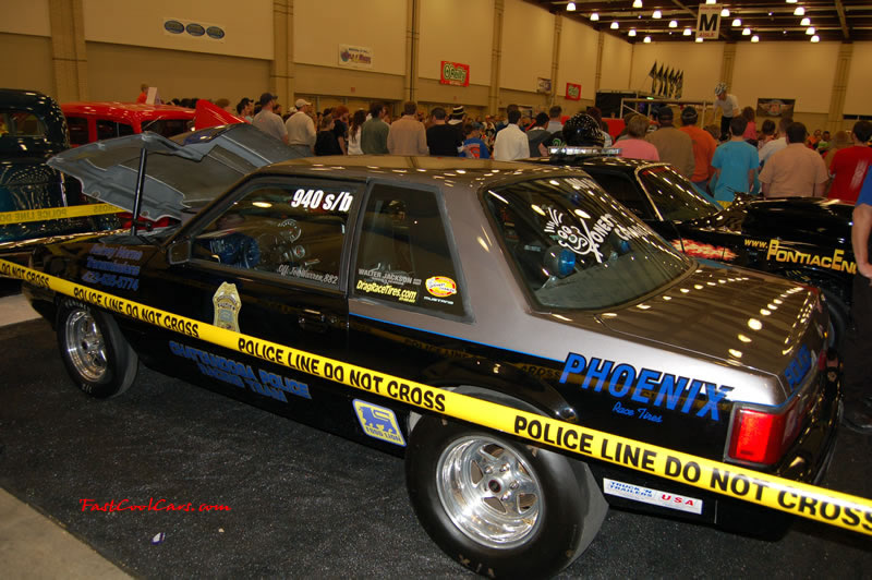 "The 2009 World of Wheels Show in Chattanooga, Tennessee. On Jan. 9th,10, & 11th, Pictures by Ron Landry. Ford Mustang ""Police"" race car."