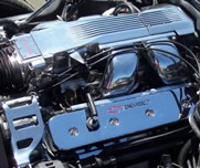 1987 Chevrolet Corvette - With highly polished intake, valve covers, brackets , and more.