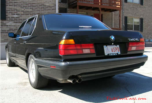 1994 BMW 740iL with the newly tinted windows