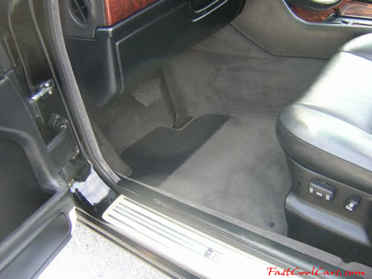 1994 BMW 740il drivers side carpet and floor