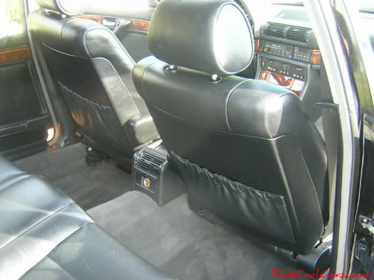 1994 BMW 740il leg room in rear