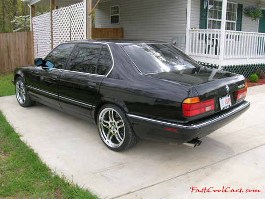 1994 BMW 740iL with chrome 19 inch M-Parallel wheels