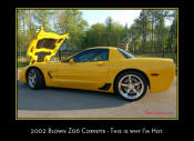 2002 Supercharged Chevrolet Z06 Corvette. Magnuson twin screw blower, CCW Wheels.