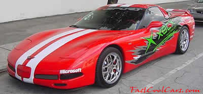 2 Fast 2 Furious - A movie with many fast cool cars in it. - Chevrolet Corvette ZO-6 - custom paint job. - Nice chrome ZO-6 wheels, street racer, very fast car, great car.