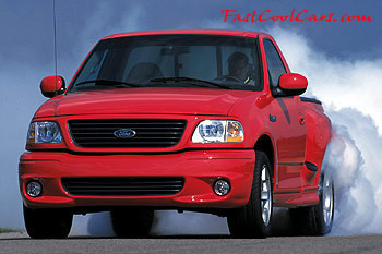 Ford SVT Lightning Pick-up roasting the tires & Burnout tire roasting cool pictures Fast Cool Cars markmcfarlin.com