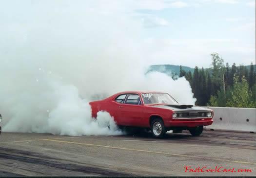 Front Wheel Drive Car Burnout