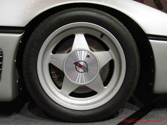 Callaway Sledgehammer Corvette right front tire and wheel view