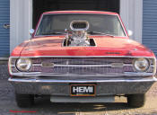 1969 Dodge Dart Hemi. Blown V8 Front View