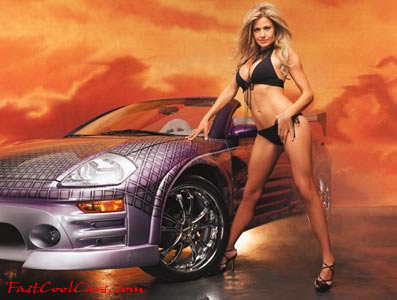 Sexy lady and car, from 2 fast 2 furious, fast and the furious - Fast Cool Cars - pretty lady