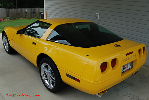 1994 Chevrolet Corvette - 383 stroker LT1, 6 speed transmission, Competition Yellow. Corsa Exhaust, High performance Clutch, 2k miles on drive train build. car has 87k on it, although you would not be able to tell it by looking at it, sitting in it, or driving it. It runs and drives like a new car, even better. All the cars weather stripping has been replaced, Hooker shorty headers. In 1994 Chevrolet made 23,330 Corvettes, and only 834 of them were Competition Yellow, and only 6012 of them were 6 speeds. This car is VERY clean inside and out, it smells and drives like a new car, and performs even better with the upgrades. This is a rare 'No Option' Corvette, meaning no extra factory options were bought and/or included on this Corvette.