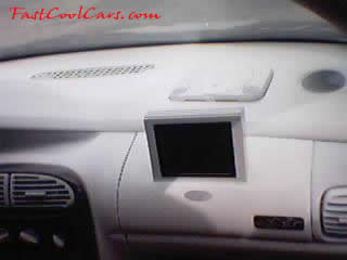 2002 Dodge Neon heavily modified tv screen sunken in dash