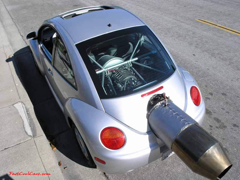 VW Bug, Jet Powered, Hybrid plus Gas Engine - one fast cool car
