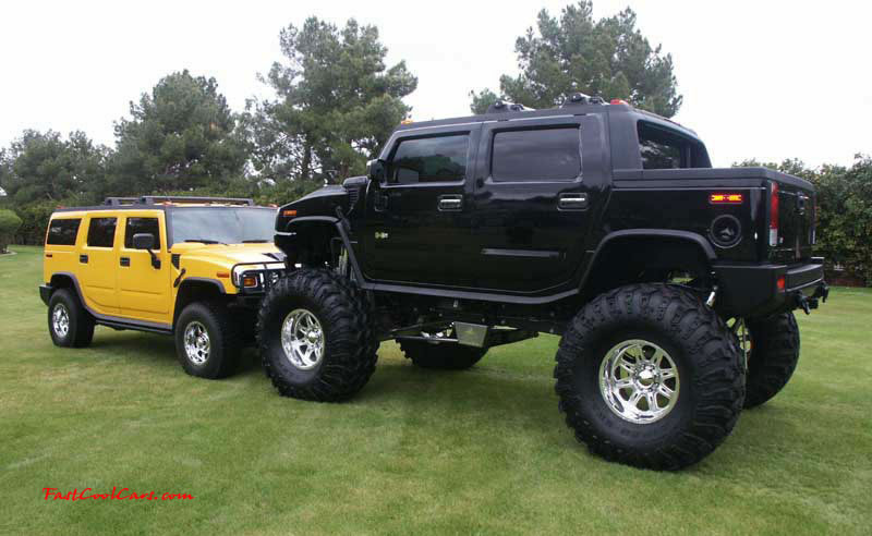 Pimped out ride, Pimp my ride with custom paint. Huge Hummer and other