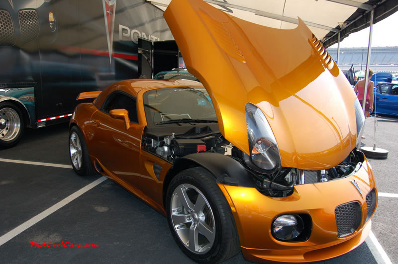 Pimped out ride, a Pontiac Solstice prototype, turbo charged, high horsepower.