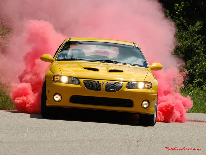 Pontiac Gto With Kumho Red Smoking Drifting Tires Smoking